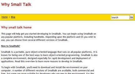 Una guida in inglese sul linguaggio di programmazione  Smalltalk