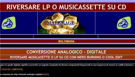 conversione analogico - digitale, segnale analogico ,da vinile a mp3, segnale  digitale