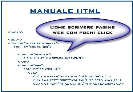 manuale html, script html, tags html, tutorial html