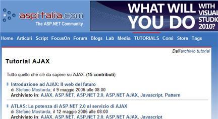 ajax download, ajax e asp.net, ajax php, manuale ajax