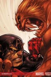 Joe Madureira - Ultimates - Capitan America e Sabretooth - Marvel