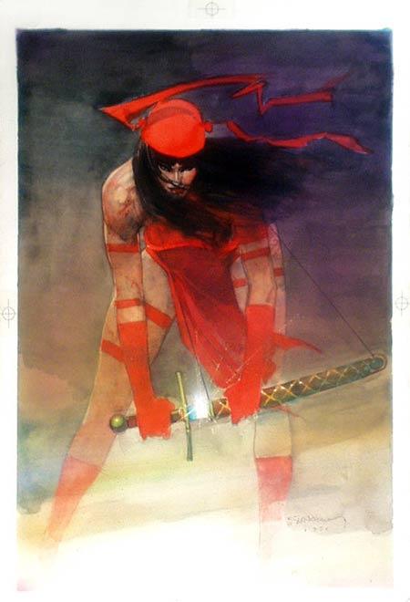 bill sienkiewicz, elektra, marvel comics cover