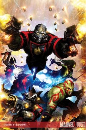 Le cover dell'albo Nova e i Guardiani della Galassia #1