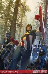 capitan america, gerald parel, marvel comics cover