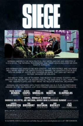 Ecco l'anteprima del primo numero di The Siege!