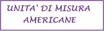 unità di misura americane
