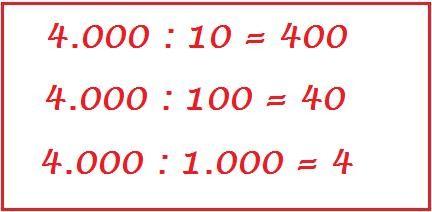 Come Dividere Un Numero Per 10 100 1000
