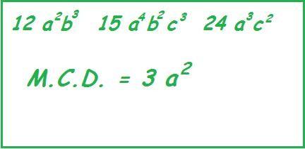 esempio MCD monomi