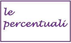 le percentuali