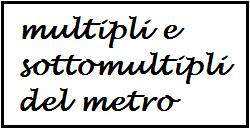 multipli e sottomultipli del metro