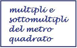 multipli e sottomultipli del metro quadrato