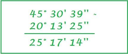 sottrazione tra numeri complessi