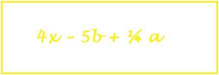 termini del polinomio