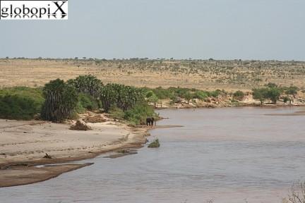 veduta fiume Tsavo