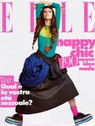 coco rocha copertina elle gennaio 2011
