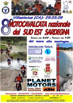 Locandina della motocavalcata del sud � est Sardegna