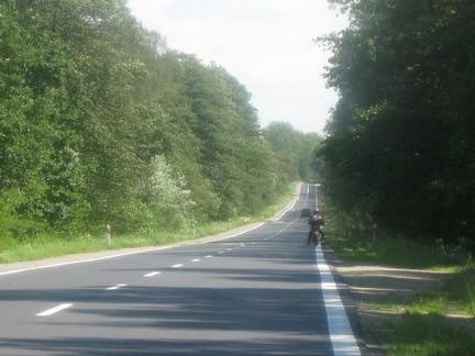 motociclista in viaggio