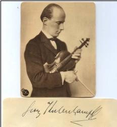 Il grande violinista tedesco
