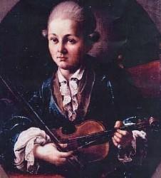 Un ritratto di Mozart bambino