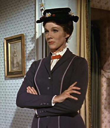 "Julie Andrews in ""Mary Poppins"""