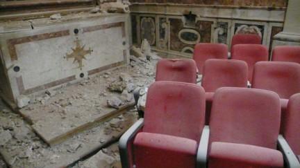 foto del teatro San Filippo distrutto