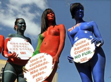 Bodypaint Mondiale contro le Pellicce