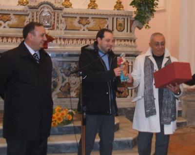 Il sindaco Marco Fiorentino con Peppe Ercolano e Peppe Barra