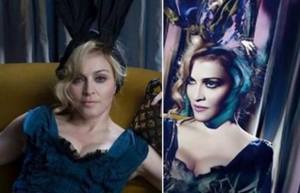Le foto di Madonna ritoccate con Photoshop. Le foto sono tratte da dashusland.com.