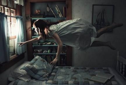 ragazza letto