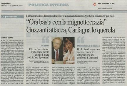 Da La Repubblica, novembre 2008