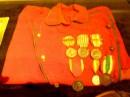 la camicia rossa di un  ufficiale garibaldino