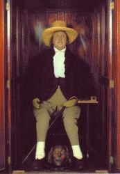 Il corpo mummificato del filosofo inglese