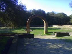 i resti della villa a Castelfusano