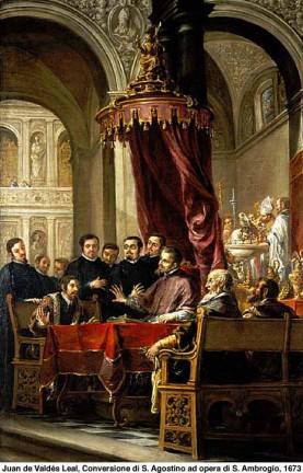 Conversione di Agostino per opera di Ambrogio