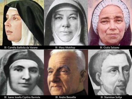 Sei nuovi Santi Cattolici