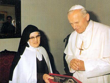 Un incontro di Giovanni Paolo II con suor Lucia
