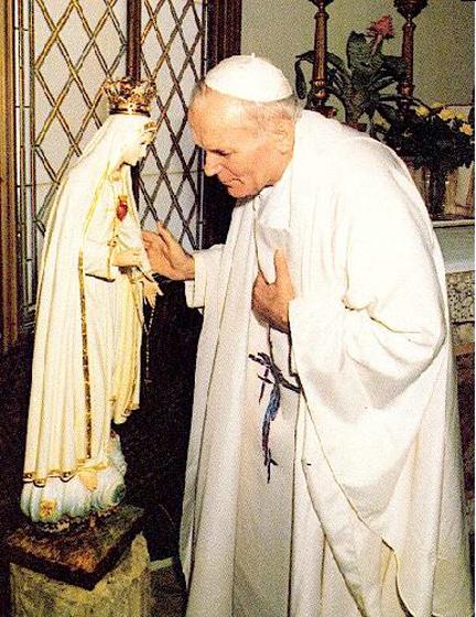 Giovanni Paolo II pellegrino a Fatima