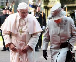 Benedetto XVI e la regina Elisabetta