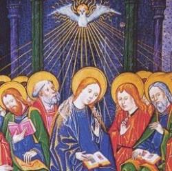 Discesa dello Spirito Santo su Maria e gli Apostoli