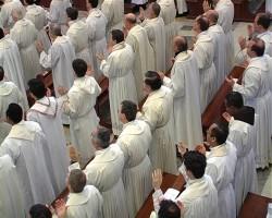 Sacerdoti alla Messa del Crisma