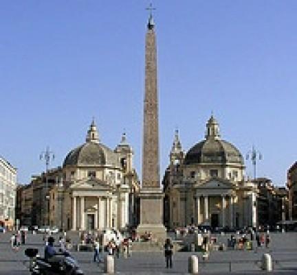 Piazza del Popolo e le Chiese gemelle