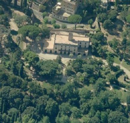 Veduta aerea Villa Sciarra