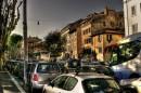 ..... e dopo il bar via nel traffico caotico di Roma