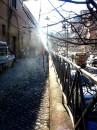 Via Garibaldi in un giorno d'inverno