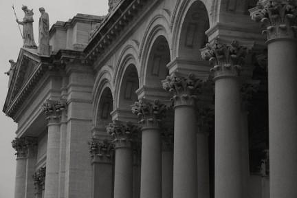 Archi e colonne della facciata
