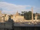 Piazza del Popolo e la chiesa S. Maria del Popolo