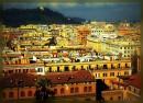 L'ottobrata romana accende al crepuscolo i tetti di Roma