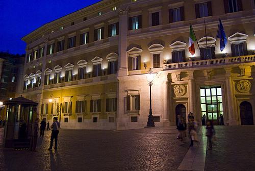 Palazzo montecitorio costruito su progetto del bernini for Sede della camera dei deputati