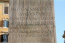 Iscrizione sull'obelisco di Piazza Montecitorio