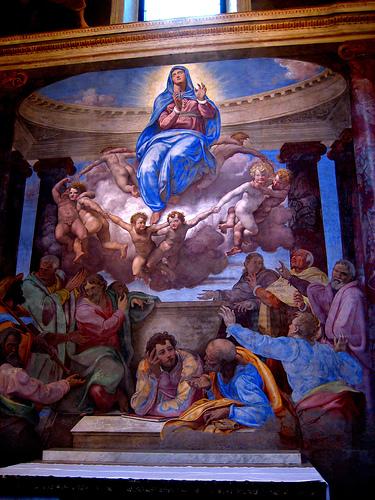 Daniele da Volterra Assunzione della Vergine cappella della Rovere